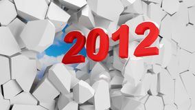 Happy New Year 2012. 3d illustration Stock Photos
