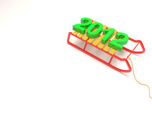 Happy New Year 2012. With place for your text Royalty Free Stock Photography