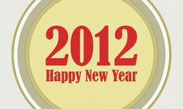 Happy new year 2012. Greeting background Stock Photos