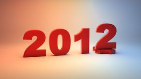Happy new year 2012. 3D background Stock Photos
