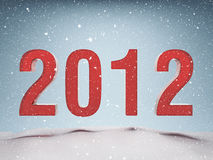 Happy New Year 2012. Greeting card royalty free illustration