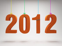Happy New Year 2012. Greeting card vector illustration