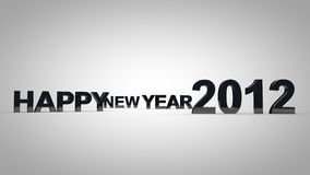 Happy new year 2012. 3D background Stock Photography