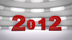 Happy new year 2012. 3D background Royalty Free Stock Photo