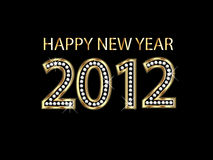 Happy new year 2012. Celebrating the happy new year 2012 vector Royalty Free Stock Photo