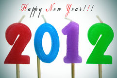Happy new year 2012. Happy new year with candles forming number 2012 stock illustration