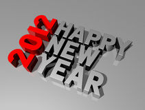 Happy new year 2012. Three dimensional 2011 happy new year message Stock Photography