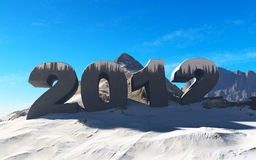 Happy new year 2012. Ice mountain Royalty Free Stock Photos