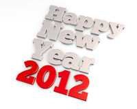 Happy New Year 2012. A 3D rendering concept Royalty Free Stock Photos