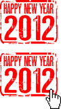 Happy new year 2012. Sign Royalty Free Stock Images