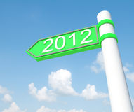 Happy new year 2012. In the signs Royalty Free Stock Image