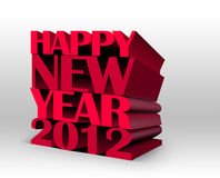 Happy new year 2012. (3d concept on white background Stock Images