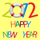 Happy new year 2012 royalty free illustration