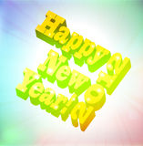 Happy new year 2012. 3D illustration: Happy new year 2012, vector illustration Royalty Free Stock Images