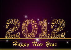 Happy New Year 2012. Vector illustration Stock Photo