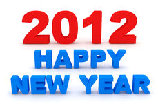 Happy New Year 2012. 3d Image Stock Photo