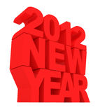 Happy New Year 2012. 3d Image Royalty Free Stock Photos