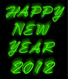 Happy new year 2012. Illustrations of happy new year as neon light, format stock illustration