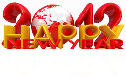 Happy new year 2012. On a white background royalty free illustration
