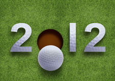 Happy new year 2012. Golf sport conceptual image Stock Photo