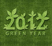 Happy new year 2012. Ecology conceptual image for 2012 year Stock Photography