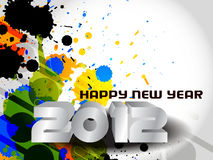 Happy new year 2012 background Royalty Free Stock Photos