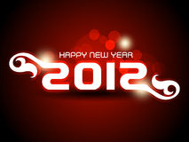Happy new year 2012 background. Abstract vector happy new year 2012 background Royalty Free Stock Photography