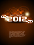 Happy new year 2012 background. Abstract vector happy new year 2012 background Royalty Free Stock Images