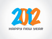 Happy new year 2012 background Stock Photography