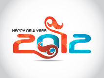 Happy new year 2012 background. Abstract vector happy new year 2012 background Royalty Free Stock Photos