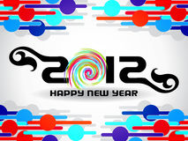 Happy new year 2012 background Stock Images