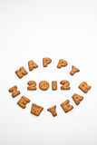 Happy New Year 2012 Biscuits II Royalty Free Stock Photo