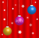Happy new year 2012 card Royalty Free Stock Photography
