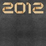 Happy new year 2012  Recycled Paper Craft Royalty Free Stock Image