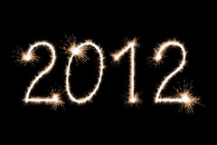 Happy new year 2012 sign Royalty Free Stock Photography
