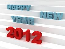 Happy new year 2012 success ladder Stock Photo