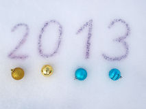 Happy new year 2013. On a background Royalty Free Stock Photography