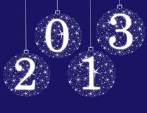 Happy new year 2013. On a background Royalty Free Stock Photos