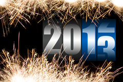 Happy new year 2013. Sparkles with changing 2012/2013 year counter Royalty Free Illustration