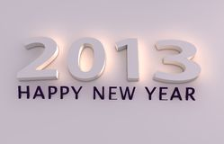 Happy new year 2013. 3d render Stock Photos