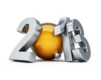 Happy new year 2013. On a white background royalty free illustration