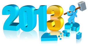 Happy new year 2013. Three dimension style and High Quality Image vector illustration