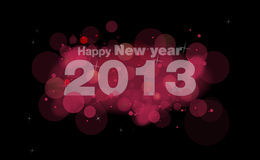 Happy new year 2013. Pink Royalty Free Stock Photos