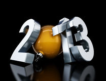 Happy new year 2013. On black background vector illustration