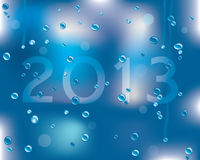 Happy new year 2013. Message on a wet surface royalty free illustration