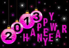 Happy new year 2013. On a background Stock Photo