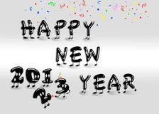 Happy new year 2013. Illustration with a Happy new year 2013 Royalty Free Stock Images