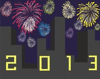 Happy new year 2013. Background Royalty Free Stock Images