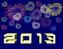Happy new year 2013. Background Stock Images
