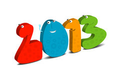 Happy New Year 2013. Cartoon illustration Royalty Free Stock Photography